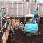 SP・Kマンション新築工事  杭工事⇒根伐り開始