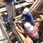 SP・Kマンション新築工事 中間検査⇔コンクリート打設終了